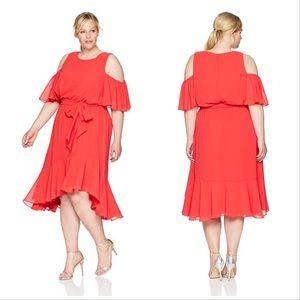 Eliza J | Poppy Cold Shoulder Midi Dress